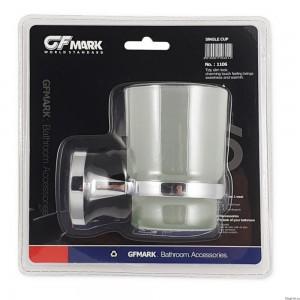 GFmark - Стакан стеклянный с креплением к стене