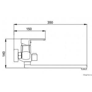 Raiber Смеситель для ванны Quattro R6003