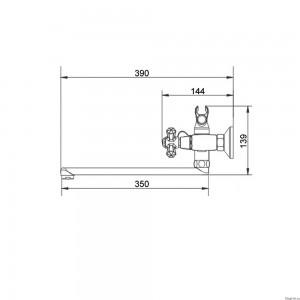 Смеситель для ванны Raiber Ventis R7004