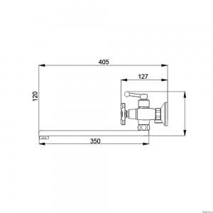 Смеситель для ванны Raiber Talis R8002