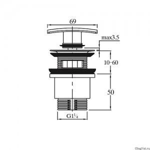 Донный клапан автомат Raiber RLET-58