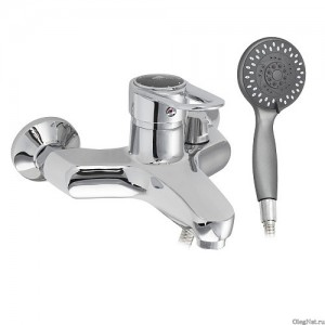 SANAKS - Смеситель в ванную шаровый короткий нос с голограммой на ручке, код: 2810